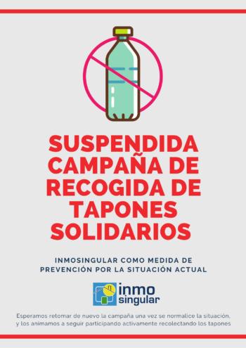 Suspendida campaña tapones solidarios