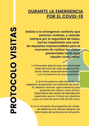 Protocolo de visitas para alquiler y venta por el covid-19